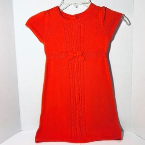 Gymboree Orange Knit Dress in Size 4T